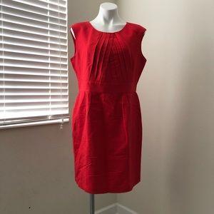 Calvin Klein Red Sheath Dress Size 14 Women